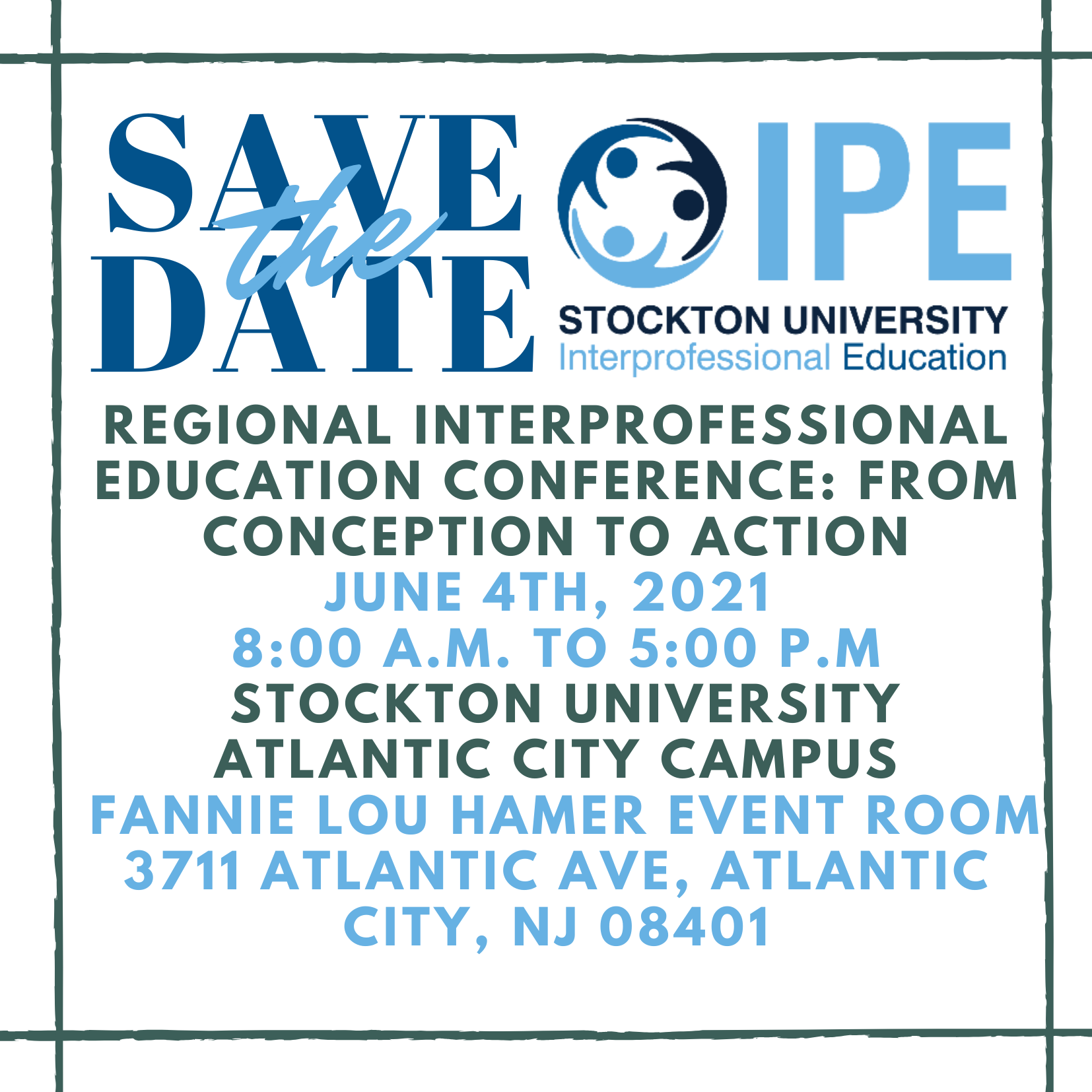 Save the Date IPE 2021